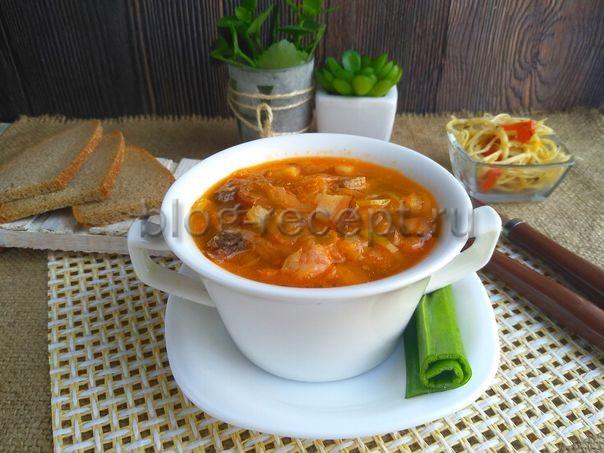 суп из квашеной капусты с мясом