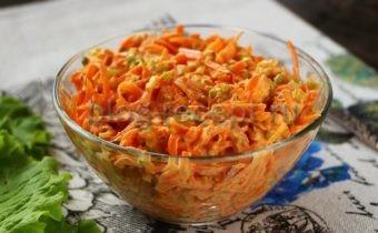 салат с черемшой, морковью и орехами