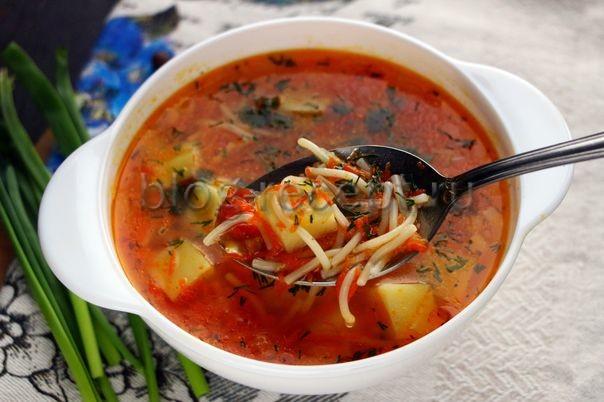 суп с вермишелью постный