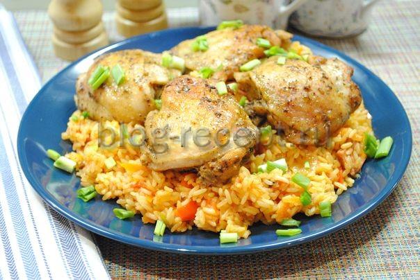 куриные бедра в рукаве в духовке
