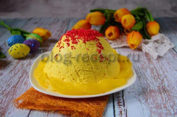 творожная пасха с апельсиновой цедрой