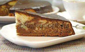 торт зебра на сметане рецепт