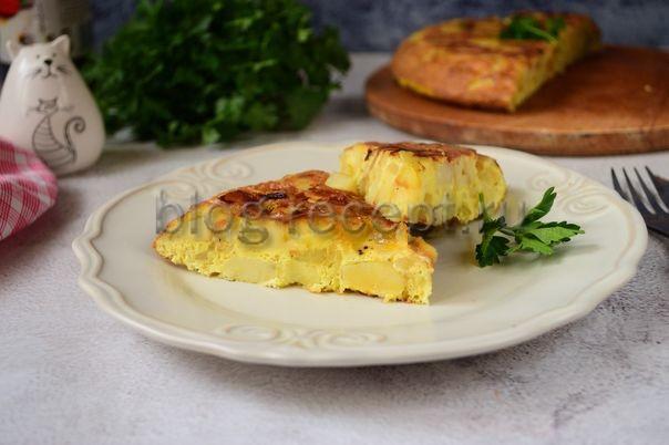 Испанский омлет с картофелем (тортилья) рецепт с фото, видео Вкусная Кухня