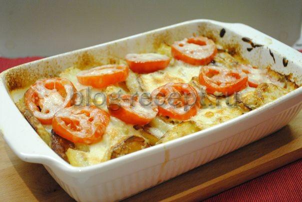 мясо по французски в духовке рецепт с фото из свинины с помидорами