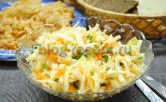салат из капусты с морковью с уксусом и сахаром