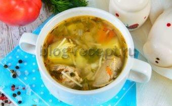 суп из свинины с вермишелью и картошкой