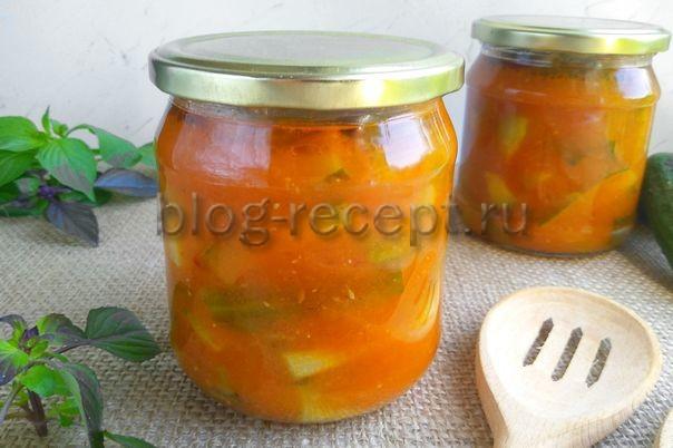 лечо из помидоров и огурцов