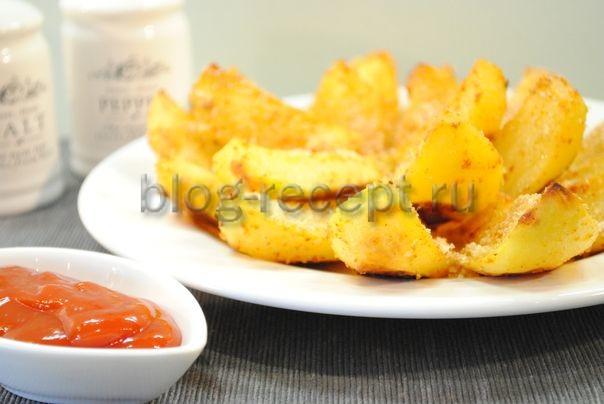 молодой картофель запеченный в духовке по деревенски