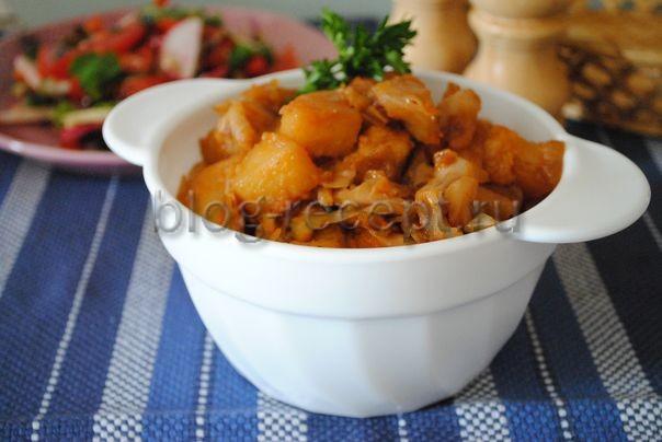 капуста тушеная с картошкой и мясом
