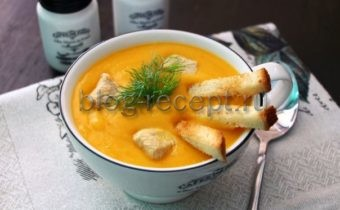 картофельный суп пюре с курицей