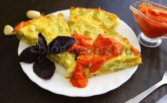 запеканка из кабачков в духовке с сыром и помидорами