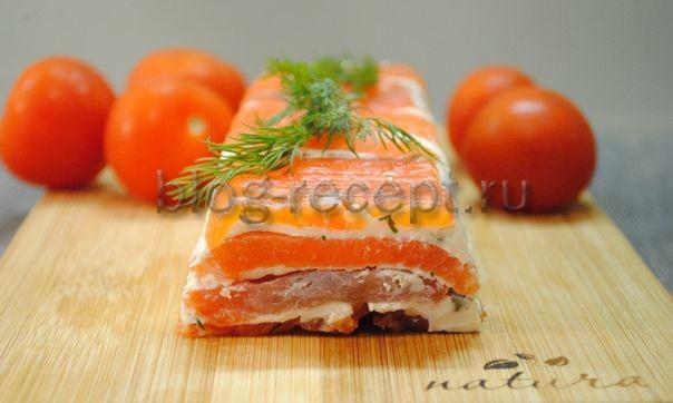 террин из лосося с творожным сыром