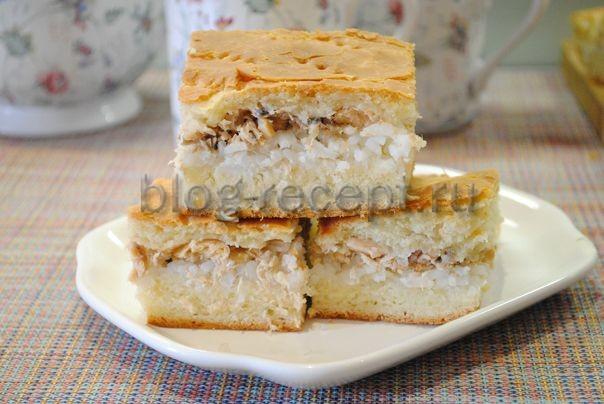пирог с горбушей из дрожжевого теста