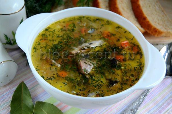 суп из консервов рыбных сайра