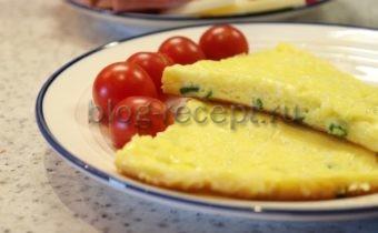 омлет на кефире на сковороде