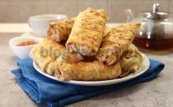 Курица в лаваше, запеченная в духовке