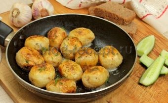 картошка молодая с чесноком и укропом