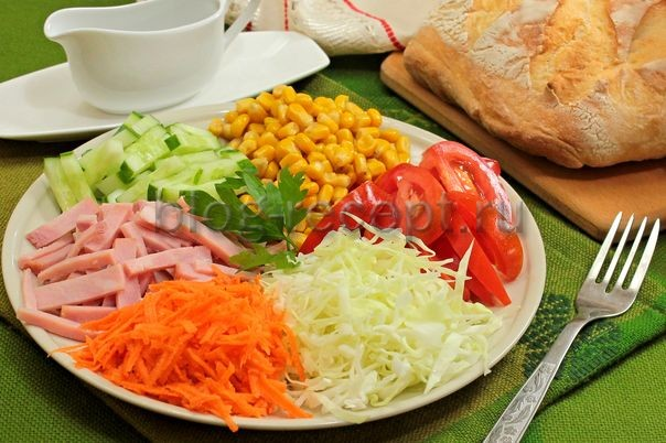 салат ромашка рецепт с фото пошагово кучками