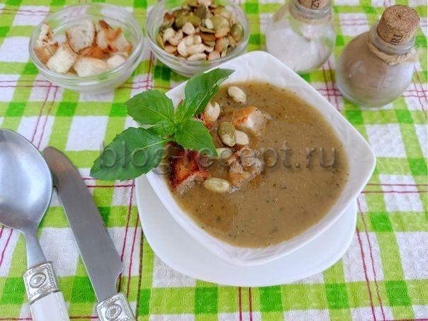 Овощной суп с кабачками и баклажанами