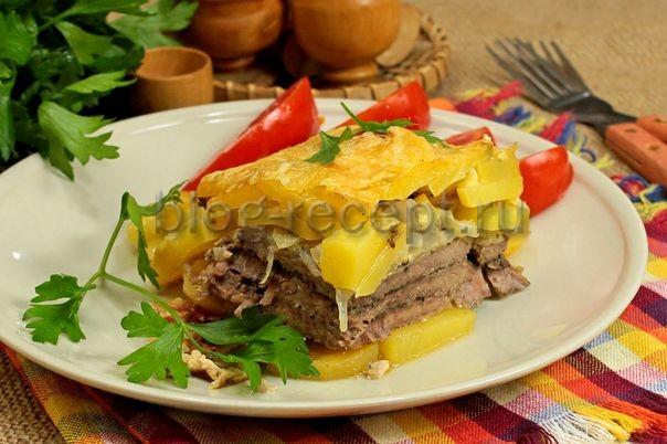 мясо по французски в духовке из говядины