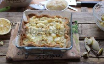 пирог песочный с грушами